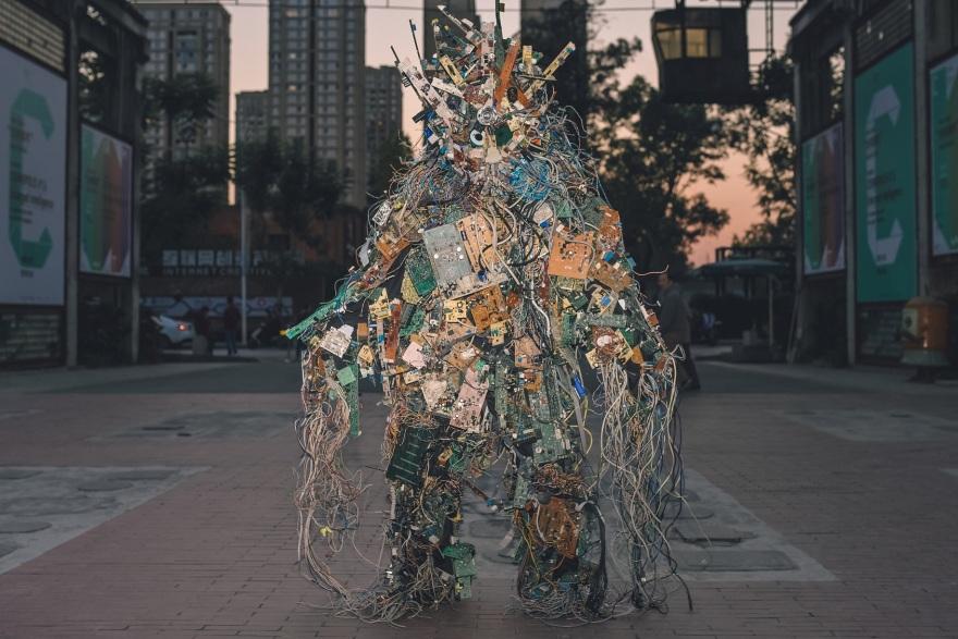 Core Dump 'E-Revenant' (2018) by Francois Knoetze. Photo Zidan, Courtesy of the Execution Team of Cosmopolis 1.5. Chengdu (2018).